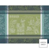 Carte Notre Dame Vert Placemat, GS Stain Resistant-4ea