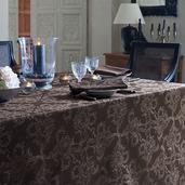 "Mille Eternel Ebene Tablecloth 71""x118"", Cotton"