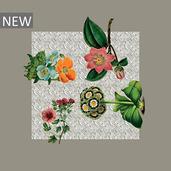 "Gaia Floralies Napkin 18""x18"", 100% Linen"