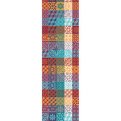 "Mille Tiles Multicoloured Tablerunner 22""x71"", Cotton"