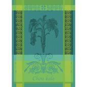 """Chou Kale Bleu Kitchen Towel 22""""x30"""", 100% Cotton"""