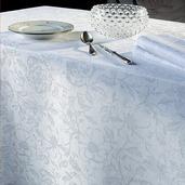 "Mille Charmes Blanc Tablecloth Diam. 71"", Cotton"