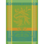 "Main de Bouddha Vert 22""x30"" Kitchen Towel, 100% Cotton"