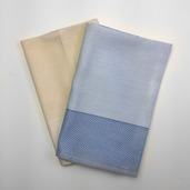 Partridge Eye Border Napkin Blue, 100% Polyester