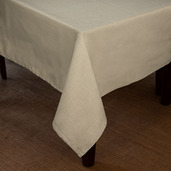Natte Beige Tablecloth Square 82x82