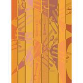 Argenterie Orange Kitchen Towel, Cotton