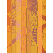 Argenterie Orange Kitchen Towel, Cotton