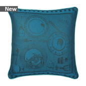 "Entre Amis Bleu Canard Cushion Cover 20""x20"", Cotton-2ea"