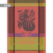 """Melon Noir Rouge Orange Kitchen Towel 22""""x30"""", 100% Cotton"""