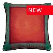 """Christmas Forest Red Cushion Cover 20""""x20"""", Cotton-2ea"""