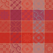 "Mille Tiles Terracotta Napkin 22""x22"", Cotton-4ea"