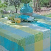 """Mille Alcees Narcisse Tablecloth 69""""x98"""", Coated Cotton"""