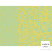 "Design Set 1 Jaune Placemat 14""x18"", Green Sweet"