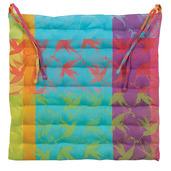 """Mille Colibris Antilles Chair Cushion 15""""x15"""", Coated Cotton"""