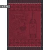 """Foire aux Vins Bordeaux Kitchen Towel 22""""x30"""", 100% Cotton"""