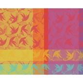 """Mille Colibris Antilles Placemat 16""""x20"""", 100% Cotton"""