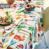 """Mille Jardin Potager Tablecloth 61""""x102"""", Linen / Cotton"""