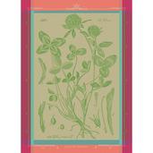 """Fleurs De Trefle Chlorophylle Kitchen Towel 22""""x30"""", 100% Cotton"""