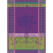 Kitchen Towel Myrtilles Violet, Cotton - 1ea