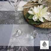 """Mille Couleurs Orage Tablecloth Round 69"""", Coated Cotton"""