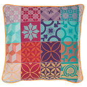 "Mille Tiles Multicolore Cushion Cover  20""x20"", 100% Cotton"