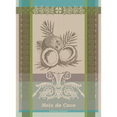 Noix De Coco Tropiques Kitchen Towel, Cotton