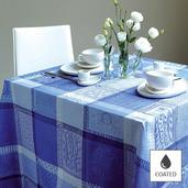 """Tablecloth Mille Wax Ocean 69""""x98"""", Coated - 1ea"""