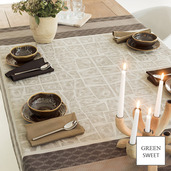 "Fields Earth Tablecloth 61""x61"", GS Stain Resistant"