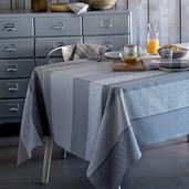 """Mille Bastides Charbon Tablecloth 61""""x89"""", 100% Cotton"""