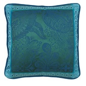 "Cushion Cover Isaphire Emeraude 20""x20"" , Set of 2"