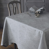 "Mille Datcha Brise Tablecloth 91""x91"", 100% Linen"