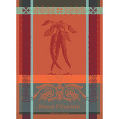 """Piment D'Espelette Epices Kitchen Towel 22""""x30"""", 100% Cotton"""