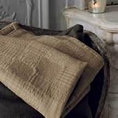 "Bed Cover Cocoon Noisette 43x59"", Cotton"