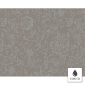 """Mille Charmes Taupe Placemat 16""""x20"""", Coated Cotton"""