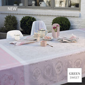 "Lysandra Rose Tablecloth 69""x120"", Green Sweet"