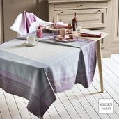 "Jardin des Roses Parme Tablecloth 61""x102"", Green Sweet"