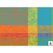 """Mille India Festival 16""""x20"""" Placemat, Coated Cotton - Set of 4"""