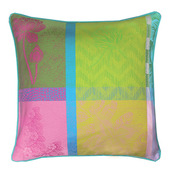 "Mille Gardenias Bourgeons Cushion cover 16""x16"", 100% Cotton"