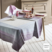 "Jardin des Roses Parme Tablecloth 45""x45"", Green Sweet"