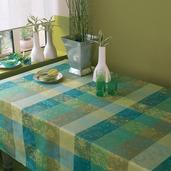 """Tablecloth Mille Couleurs Lime 45""""x45"""", cotton"""