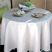 "Mille Charmes Nacre Tablecloth 71""x71"", 100% Cotton"