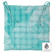 Mille Verdoyant Turquoise Chair Cushion, Coated-2ea