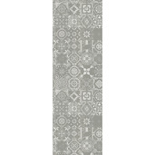 "Mille Azulejos Naturel Tablerunner 19""x59"", Linen-Polyester blend"