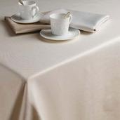 "Plain Satin Cottonrich Canaveral Sand Tablecloth Round 98"" Rnd"