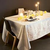 "Mille Isaphire Parchemin Tablecloth 71""x118"", 100% Cotton"