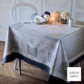 "Tablecloth Bagatelle Flanelle 69""x100"""