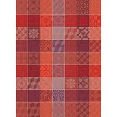 "Mille Tiles Tor Terracotta Kitchen Towel 22""x30"", 100% Cotton"