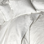 """Opera Blanc Flat Sheet 94""""x122"""", 100% Cotton"""