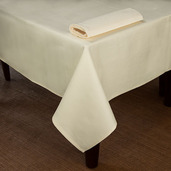 Overall Partridge Eye Ivory Tablecloth Square 54x54