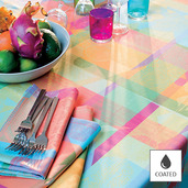 "Mille Tingari Austral Tablecloth 69""x98"", Coated Cotton"
